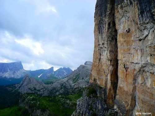 British team climbing Torre Grande North wall
