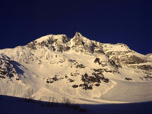 North face of Hoher Sonnblick...