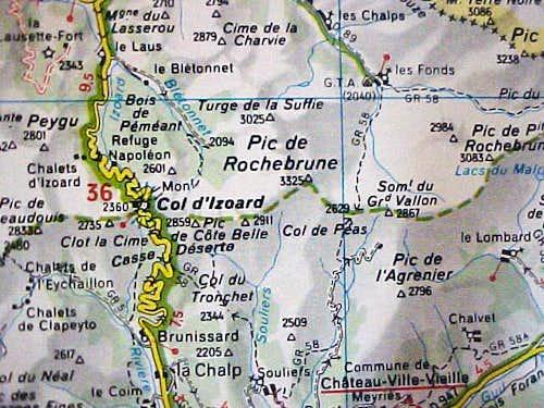 Map of Grand Rochebrune