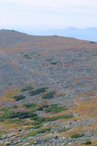 Cairns along the range