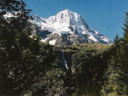 View of the Breithorn peak...