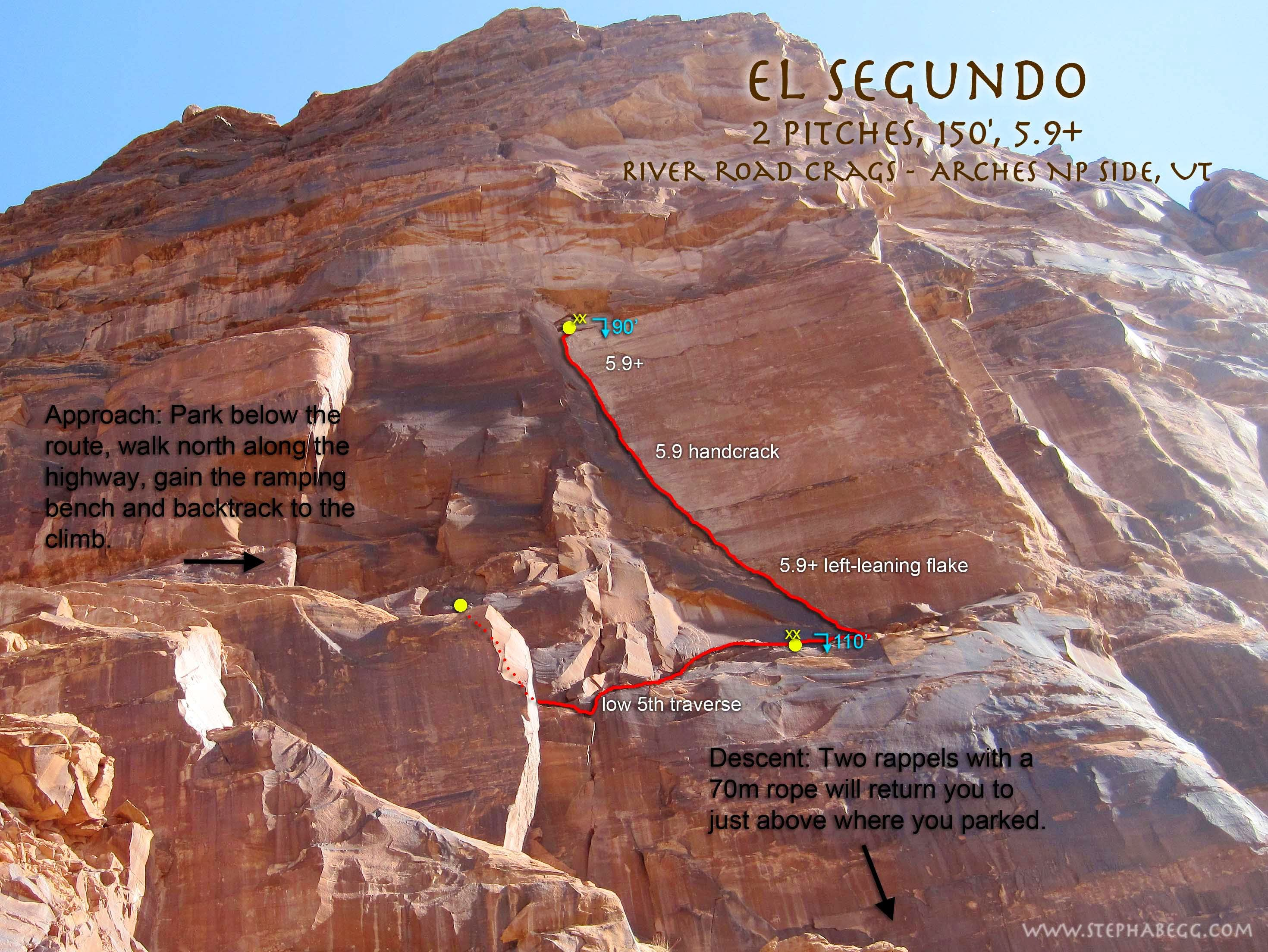 El Segundo, 5.9+, 2 Pitches