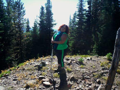 BearQueen on the summit of Colquhoun Peak