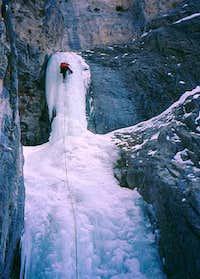 Erik Erikson climbing the...