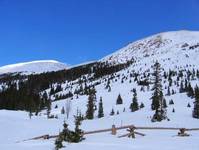 Vasquez Peak and UN 12,900...