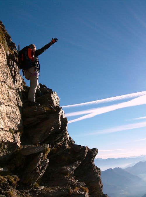 Cima delle Anime, rocky steps on the East ridge