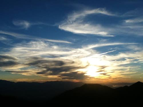 Sunset from West Mountain Looking Northwest