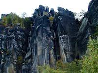 Climbing in Schrammsteingebiet