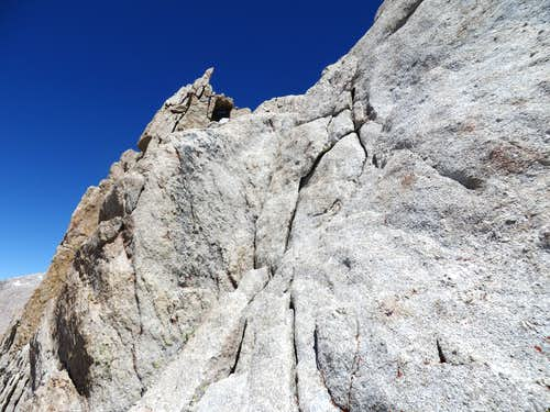 Vertical rock with crack