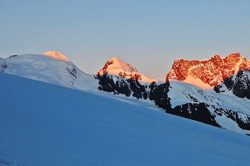 Castor & Pollux catching the alpenglow