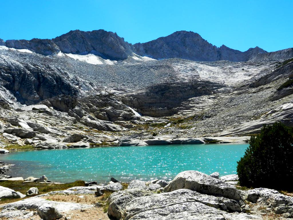 Mt. Conness and Conness lake
