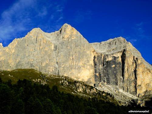 The sunny East wall of Catinaccio