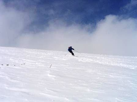 A skier reaps his reward of...