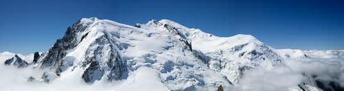 Tour Ronde - Grand Capucin - MB du Tacul - Mont Maudit - Mont Blanc - Dôme du Goûter