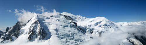 Grand Capucin - Mont Blanc du Tacul - Mont Maudit - Mont Blanc - Dôme du Goûter