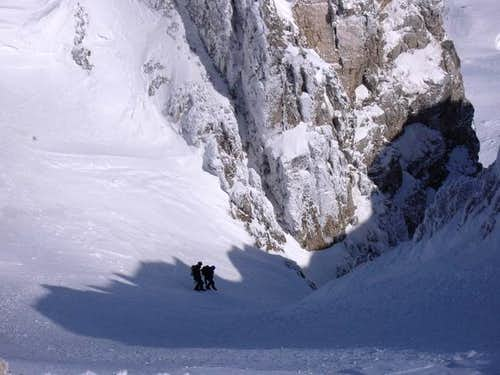 Descending from the summit of...