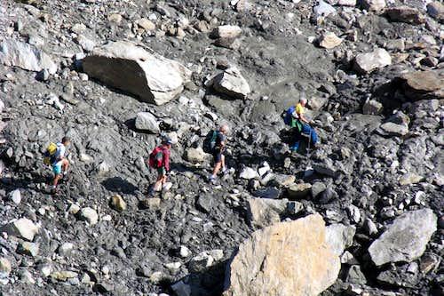 Ascending on Leppe Vallon below Punta Lussert 2005