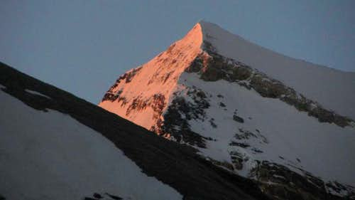 Alpenglow on the Brunegghorn north face