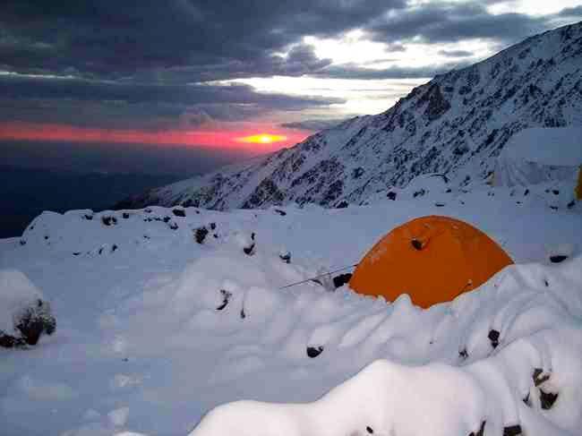 Sunrise at Salto Base Camp...