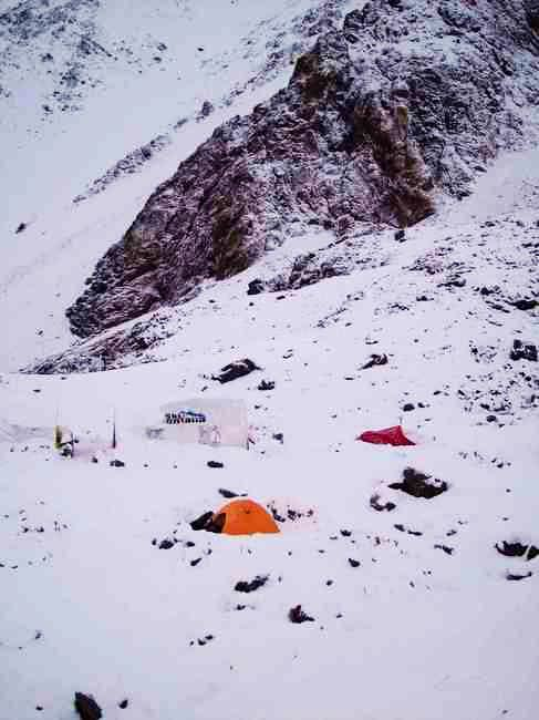 Salto Base Camp after an...
