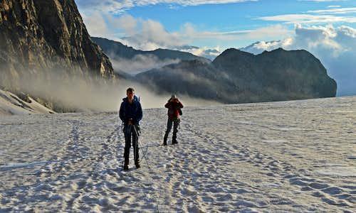 On the Allalin Glacier looking back