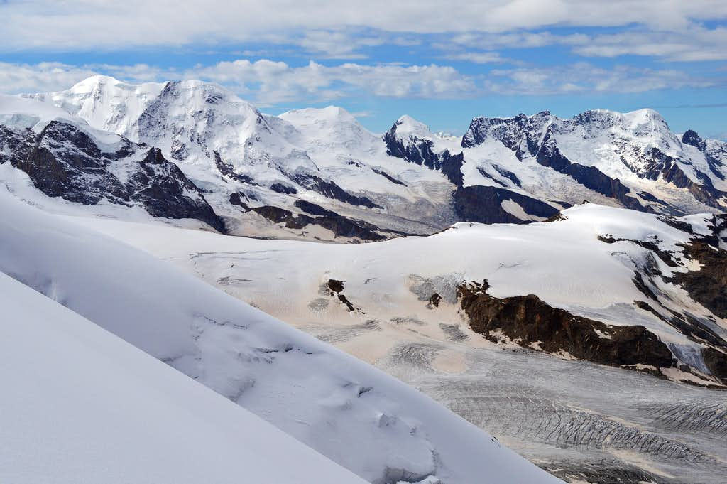 Liskamm, the Twins and Breithorn