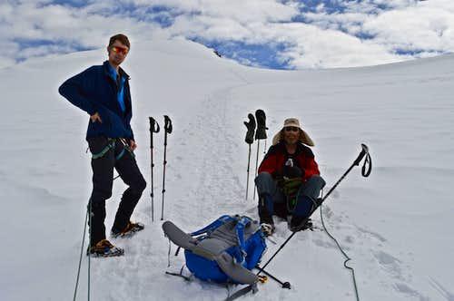 Last 20 minutes to Strahlhorn Summit 4190m