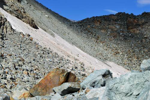 Crossing from Allalin to Hohlaub Glacier