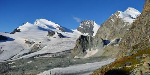 Strahlhorn 4190m, Rimpfischhorn 4199m & Allalinhorn 4027m