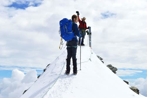 Strahlhorn summit 4190m
