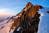 Pizzo d\'Andolla NW-ridge at sunrise