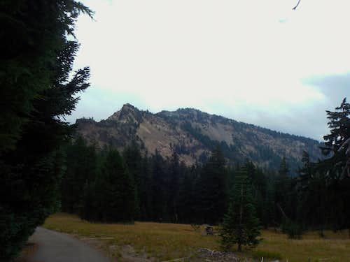 Garfield Peak from Crater Lake Lodge
