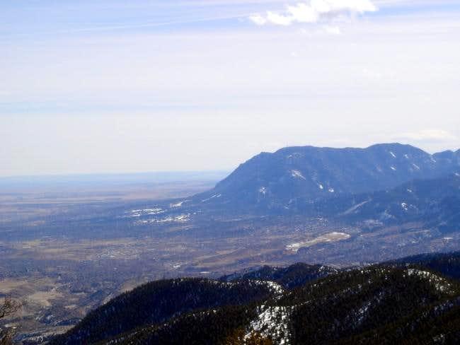 Cheyenne Mountain close up...