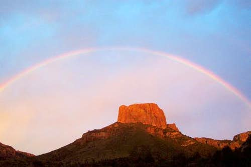 Rainbow over Casa Grande - by...