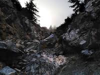Sugarloaf chute climb