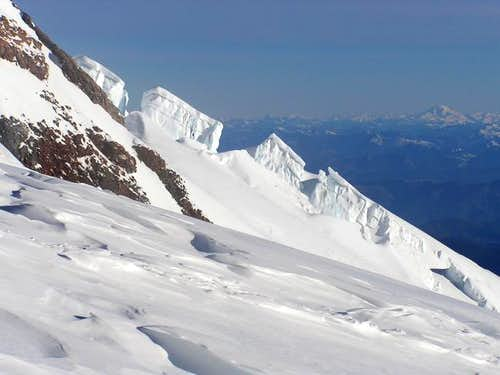 Seracs and Glacier Peak from...