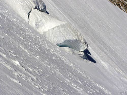 Ice formation on the Abberg Glacier
