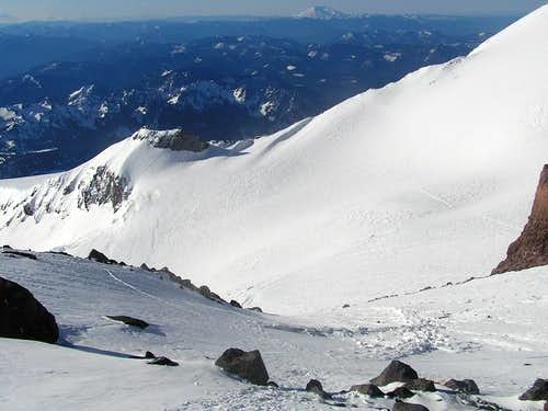 Camp Muir from Cathedral Gap....