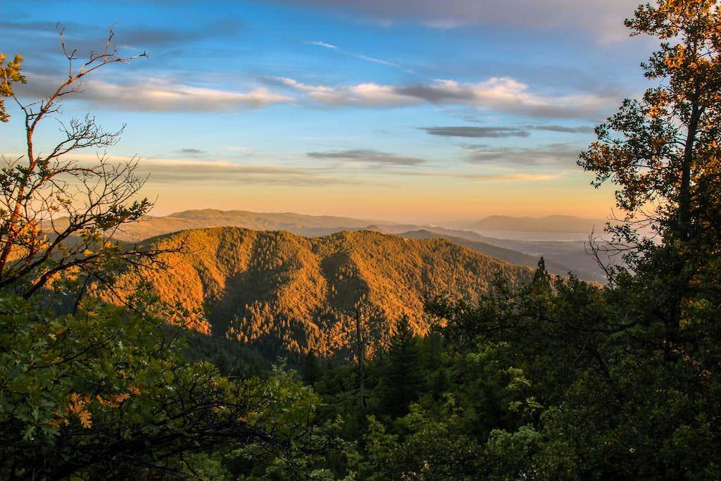 Sunset on Elk Mountain.