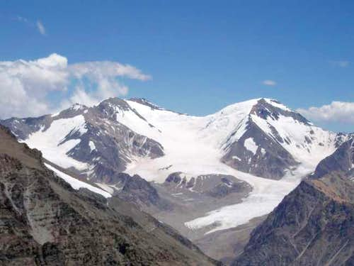 View of nearby glaciated...