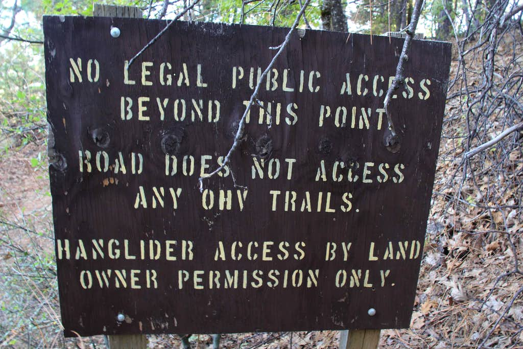 Old sign at trail head