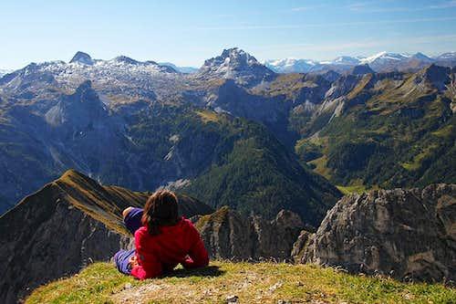 On the summit of Steinfeldspitze