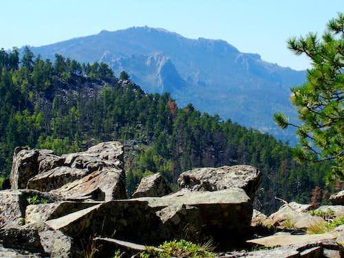 View of Black Elk Peak & Elkhorn Mountain