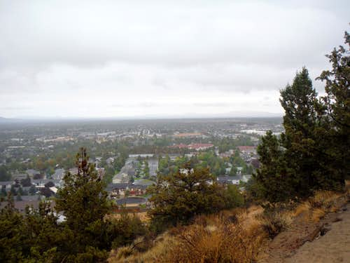Views of Bend through the rain