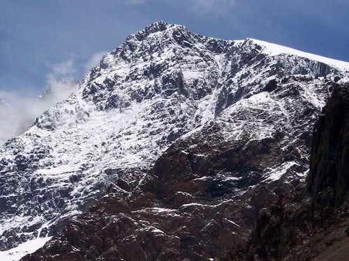 Closeup of Cerro Rincon from...