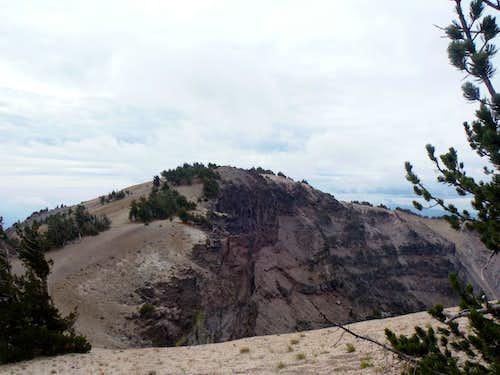 The true summit of Dutton Cliff
