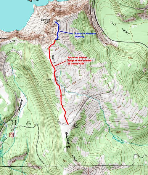 Map of the Summer Route