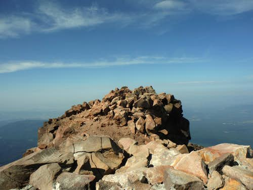 The true summit of Mount McLoughlin