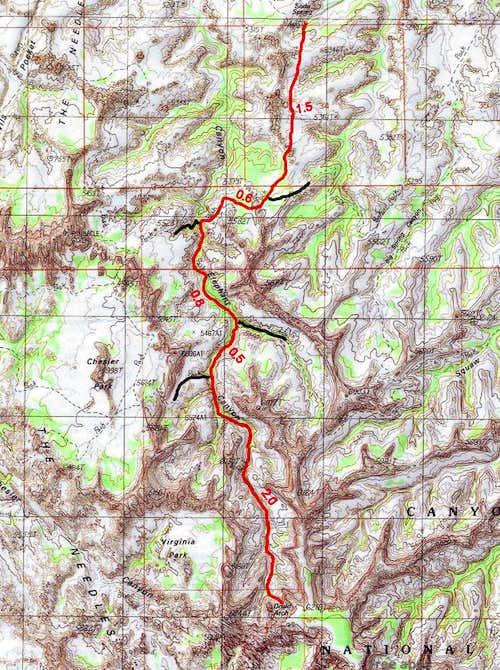 Druid Arch Trail Map