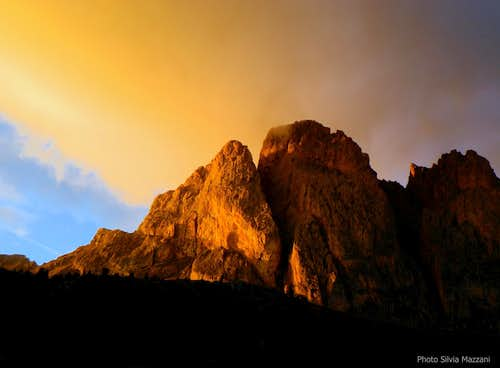 Sunset on Piccola Fermeda and Gran Fermeda